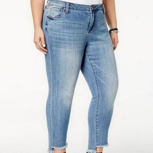 KUT from the Kloth Straight Leg Reese Ankle Jeans